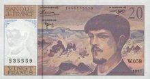 20 francs (Debussy) - Type 1980 modifié