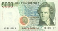5000 Lires 4.1.1985