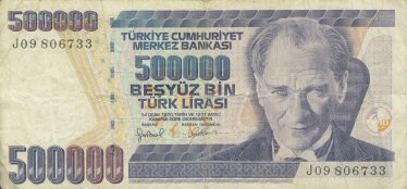 billet de banque turc